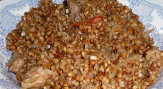 Гречневая каша с куриным филе