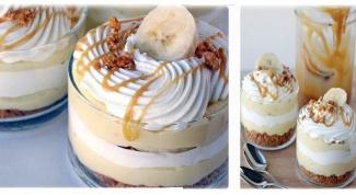 Бананово-карамельный десерт