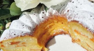 Творожно-кокосовый кекс с абрикосами