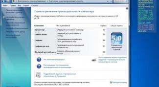 Какой индекс производительности Windows
