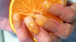 How to paint nails orange