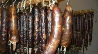 Exquisite delicacy: horse sausage