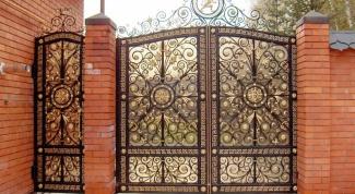Кованые ворота - шедевр своими руками