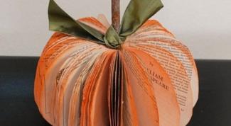 Тыква из бумаги на Хэллоуин: техника выполнения