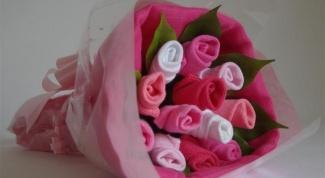 Как сделать розы из носков