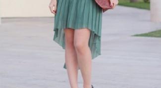 How to sew asymmetrical skirt