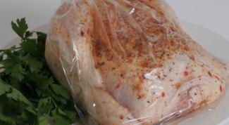 Как приготовить курицу в микроволновке в пакете для запекания
