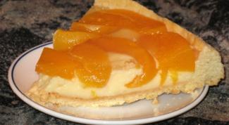 Персиковый пирог из песочно-лимонного теста