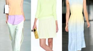 Одежда пастельных оттенков
