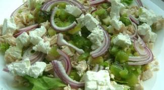 Как приготовить салат из курицы с сыром фета