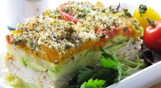 Casserole of zucchini and Turkey breast