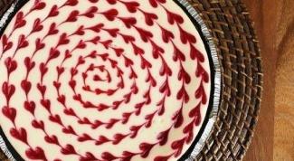 Чизкейк из белого шоколада с малиной