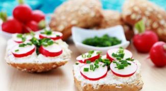 Бутерброды с редисом и сливочным маслом