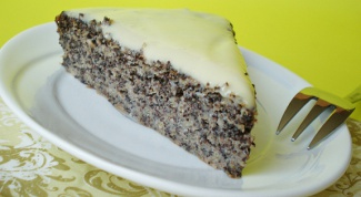 Маковый пирог с кремом