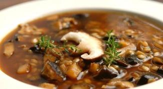 Весенний суп с грибами