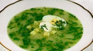 Как приготовить холодный суп из щавеля