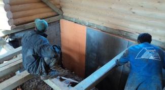 Как утеплить фундамент дома изнутри