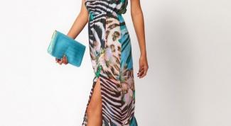 Как носить длинное платье