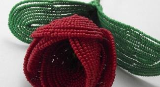 Как сделать тюльпан из бисера