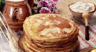 Старорусский рецепт блинов на сметане