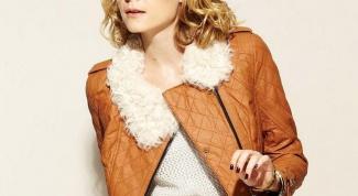 Коричневая кожаная куртка: с чем носить