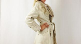Белая дубленка: с чем носить