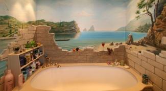 Современная отделка ванны: альтернативные методы