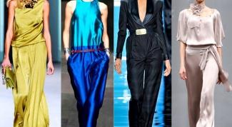Модные тренды: комбинезон из шелка