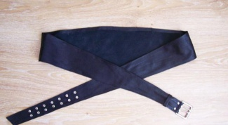 How to make a wide belt with your hands