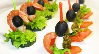Как приготовить канапе с оливками