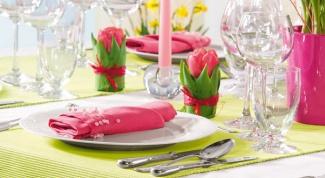 Красивая сервировка стола - залог хорошего обеда