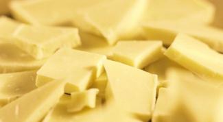 Из чего делают белый шоколад