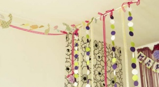 How to make a garland for wedding with their hands