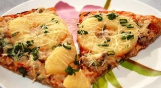 Как приготовить пиццу с курицей и ананасами