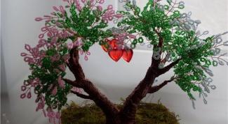 Дерево любви из бисера и способы его изготовления