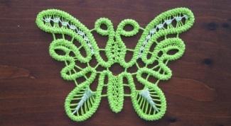 Маленькая вязаная бабочка крючком