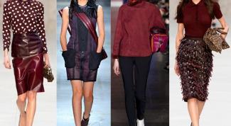 Модные тренды: цвет бордо