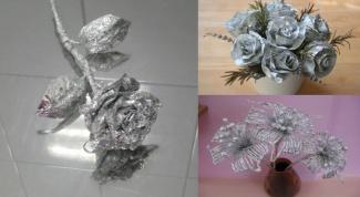 Цветы из фольги своими руками