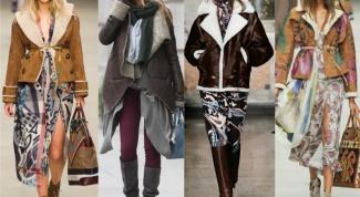 С чем носить коричневую дубленку