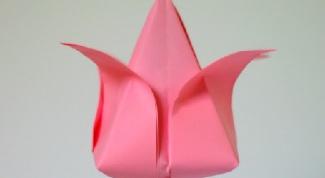 Тюльпаны оригами: красиво и изящно