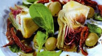 Малокалорийные рецепты: салат с артишоком