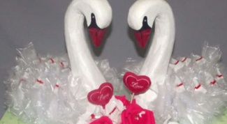 How to make wedding swans on the car with his hands