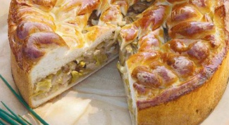 Cabbage pie on kefir