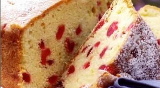 Как приготовить пирог с вяленой вишней