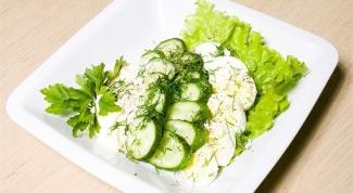 Огуречный салат по-фламандски