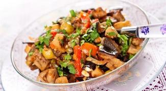 Салат из баклажанов с укропом и чесноком