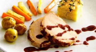 Как приготовить свиную корейку с гарниром из овощей