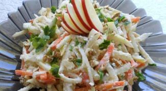 Как приготовить витаминный салат с сельдереем