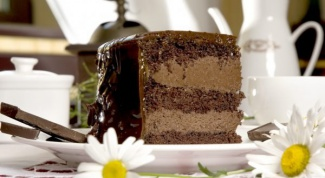 How to cook cream with chocolate sponge cake