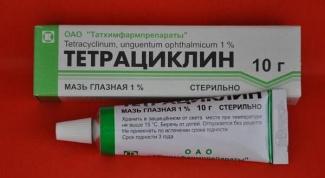 Как пользоваться тетрациклиновой мазью